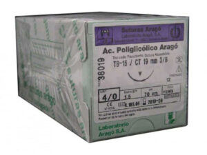SUTURA A.POLIGLICOLICO TB-15 2/0 12u.
