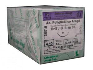 SUTURA A.POLIGLICOLICO TB-15 4/0 12u.