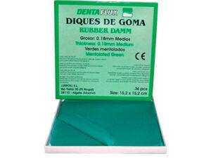 DIQUE GOMA VERDE MENTOL. 36u.