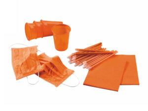 KIT 4 DESECHABLES NARANJA 500 PACIENTES