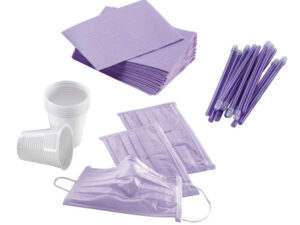 KIT 4 DESECHABLES LILA 500 PACIENTES