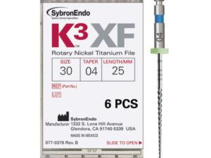 K3 XF FILE.30/.04 25mm. 6uds.