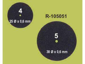 105050 DISCO DE CORTE STANDARD NEGRO 25X0.6 100und