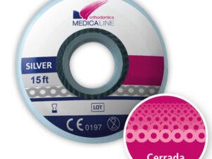 Cadeneta ML elástica Silver cerrada 2,3 mm