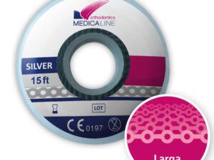 Cadeneta ML elástica Silver larga 4,0 mm