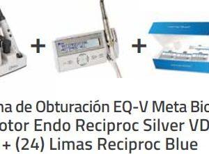 Sistema de Obturación EQ-V Meta Biomed + Motor Endo Reciproc Silver VDW + (24) Limas Reciproc Blue