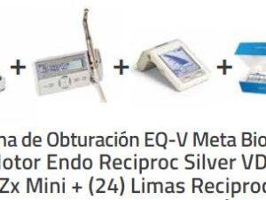 Sistema de Obturación EQ-V Meta Biomed + Motor Endo Reciproc Silver VDW +Root Zx Mini + (24) Limas Reciproc Blue