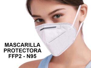 Mascarilla protectora FFP2 – N95- KN95 CAJA CON 20 UDS.