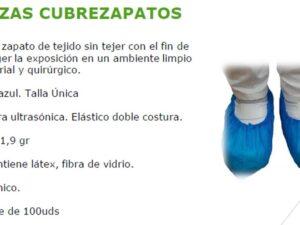 CUBREZAPATOS DESECHABLES ( CALZAS) BOLSA CON 100 UNIDADES