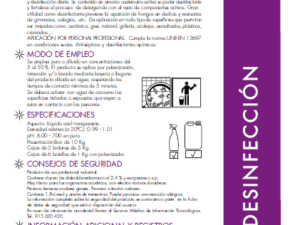 Detergente desinfectante con propiedades humectantes ONDESIN  5 kg