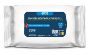 TOALLITAS HIGIENIZANTES DE SUPERFICIES DDX MAYA 19x22cm 20 uds