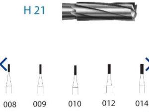 H21.314.008 KOMET carburo clínica 5 ud