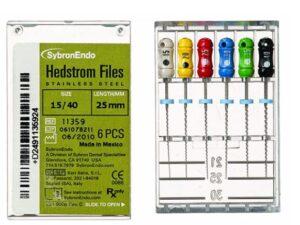 LIMAS HEDSTROM SURTIDAS 15-40 (6 uds) 25mm SybronEndo-KERR
