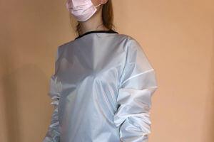 batas de protección desechables odontólogos